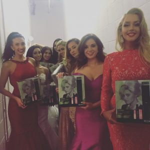 cardiff hairdressers style Miss Universe contestants
