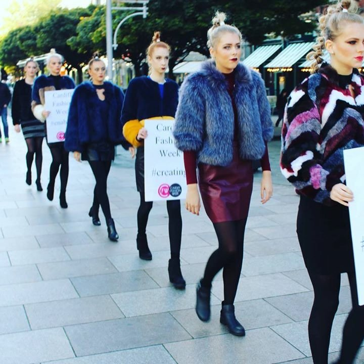 The Model March at Cardiff Fashion Week 2017