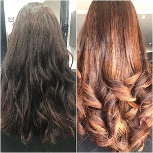 Hair transformations at Michelle Marshall top Cardiff hair salon