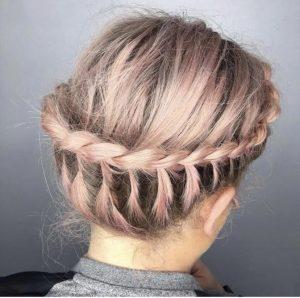 Pastel Braids at top Cardiff Hair Salon