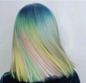 Pastel Unicorn Hair for Festivals at Cardiff Hair Salon
