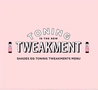 Introducing the Redken Toning Tweakments Menu