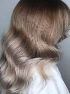 ombre color melt root stretch or root shadow ash blonde
