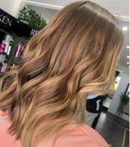 balayage foliage highlights